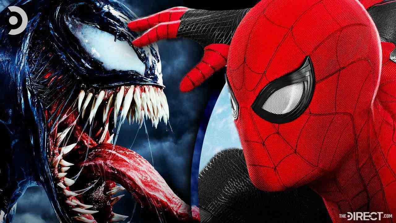 Venom on left, Spider-Man on right