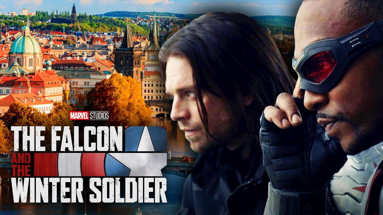The Falcon and the Winter Soldier logo, Bucky Barnes, Sam Wilson