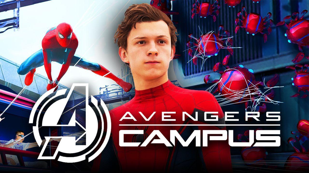 Tom Holland, Spider-Man ride, Avengers Campus