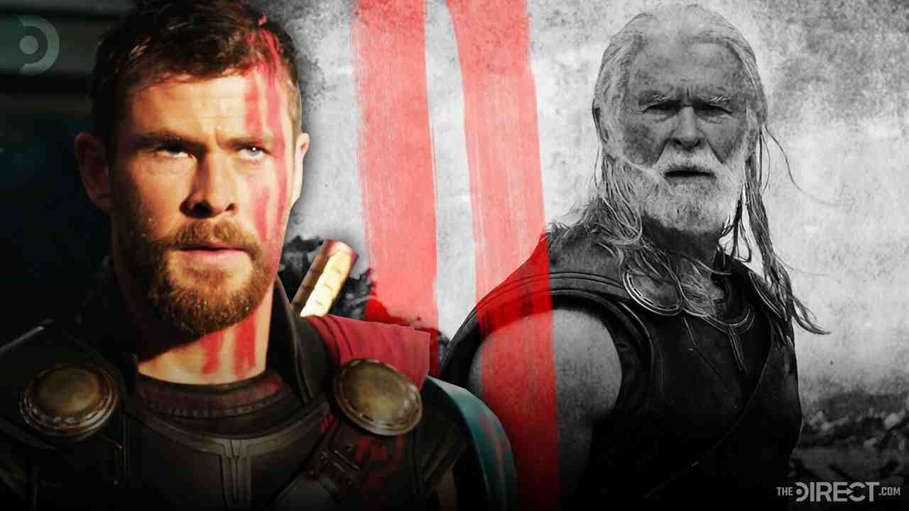 Young Thor left and Old Thor right