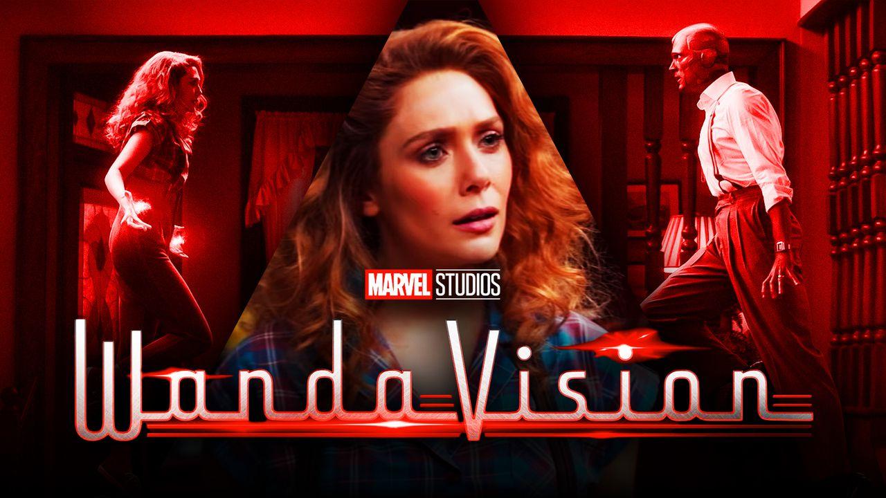 WandaVision logo, Scarlet Witch, Vision
