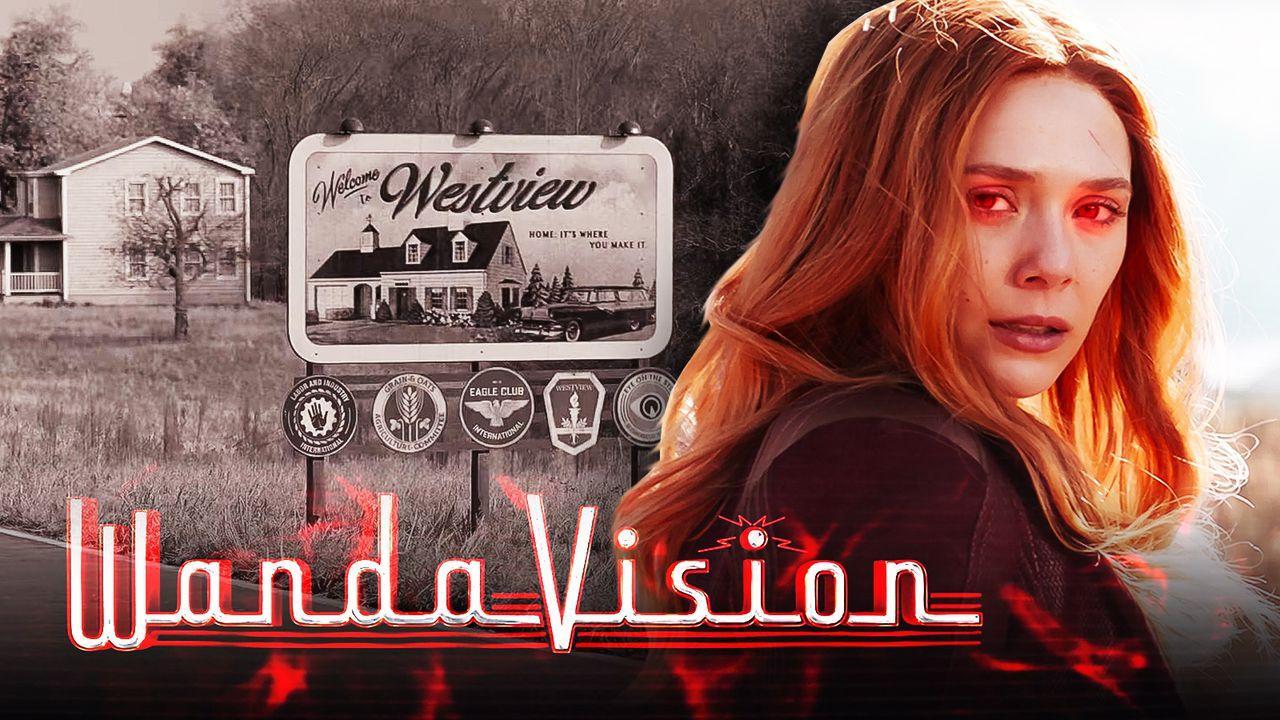 Westview, WandaVision logo, Scarlet Witch