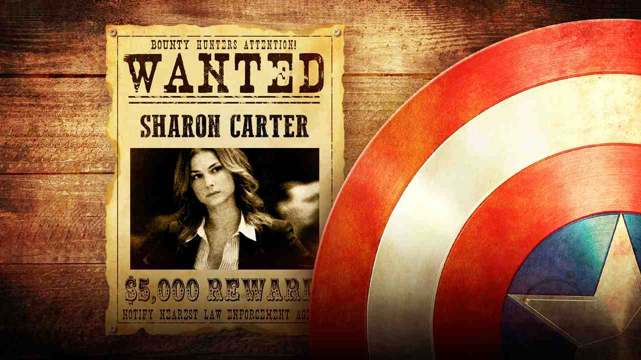 Captain America shield, Emily Vancamp as Sharon Carter