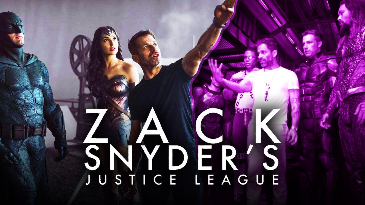 Batman, Wonder Woman, Zack Snyder, Zack Snyder's Justice League logo.