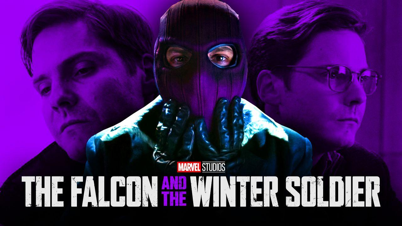 Daniel Bruhl as Zemo, The Falcon and the Winter Soldier logo