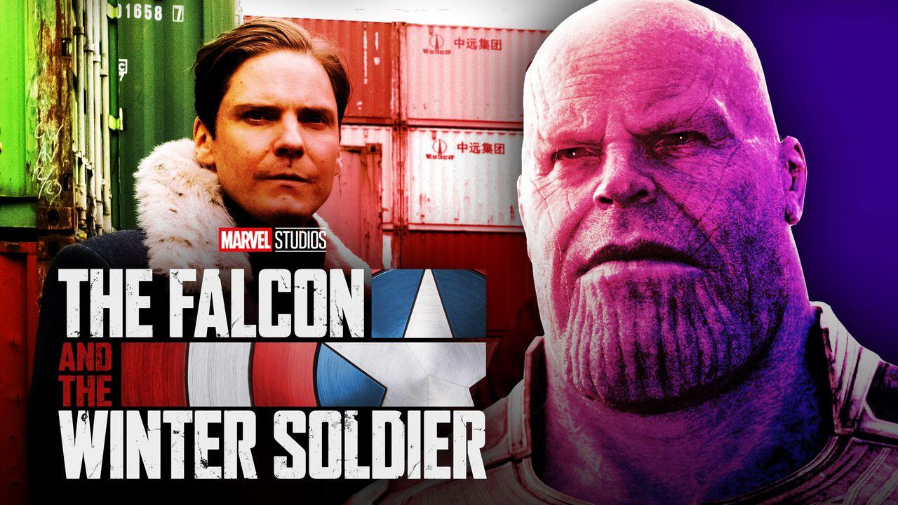 Thanos Zemo Falcon and Winter Soldier