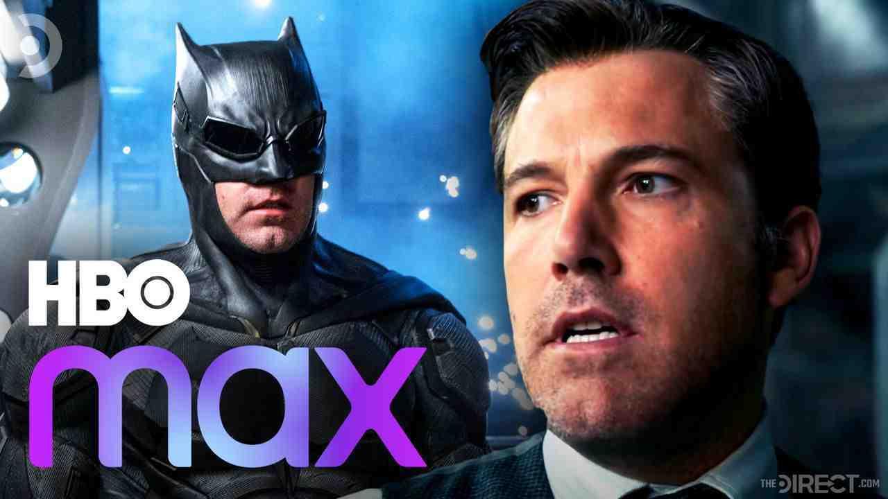 Batman and Ben Affleck's Bruce Wayne. HBO Max logo