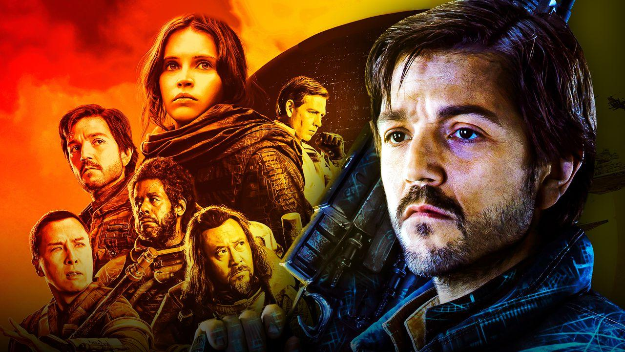 Diego Luna as Cassian Andor, Rogue One Star Wars poster