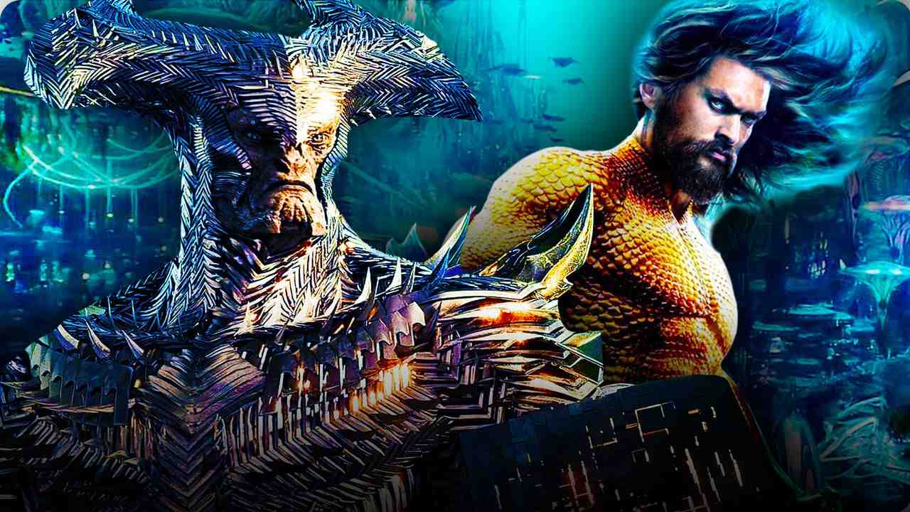Steppenwolf and Aquaman Justice League