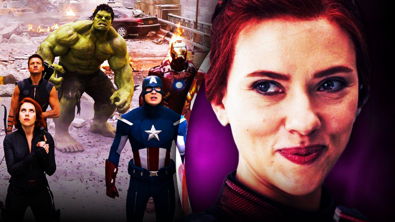 Scarlett Johansson as Black Widow, Avengers Team Up