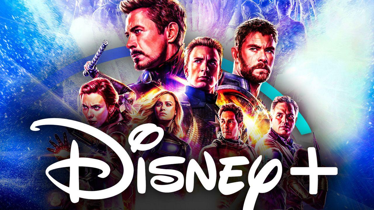 Avengers Endgame Disney Plus logo