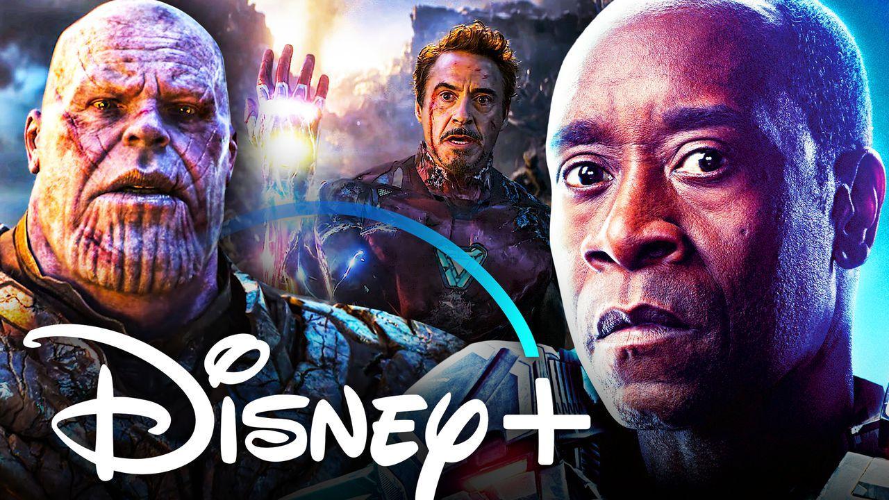 Thanos, Don Cheadle, Disney Plus logo