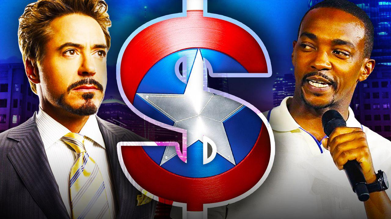 Iron Man and Anthony Mackie with Dollar Sign