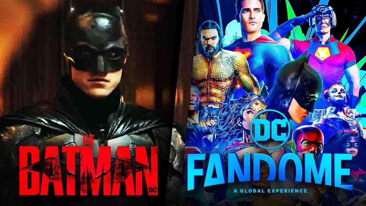 DC FanDome logo, The Batman logo, Robert Pattinson's Batman