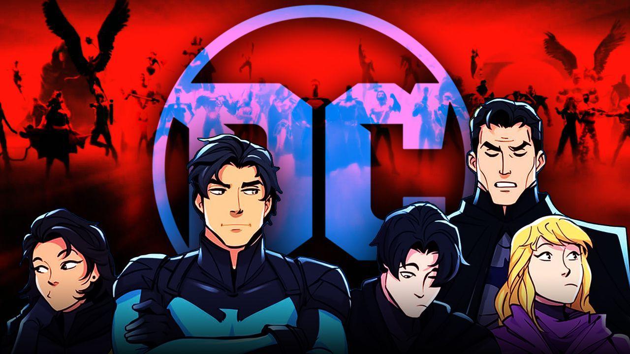 Oprhan, Nightwing, Robin,  Robin, Batman, Spoiler, DC logo