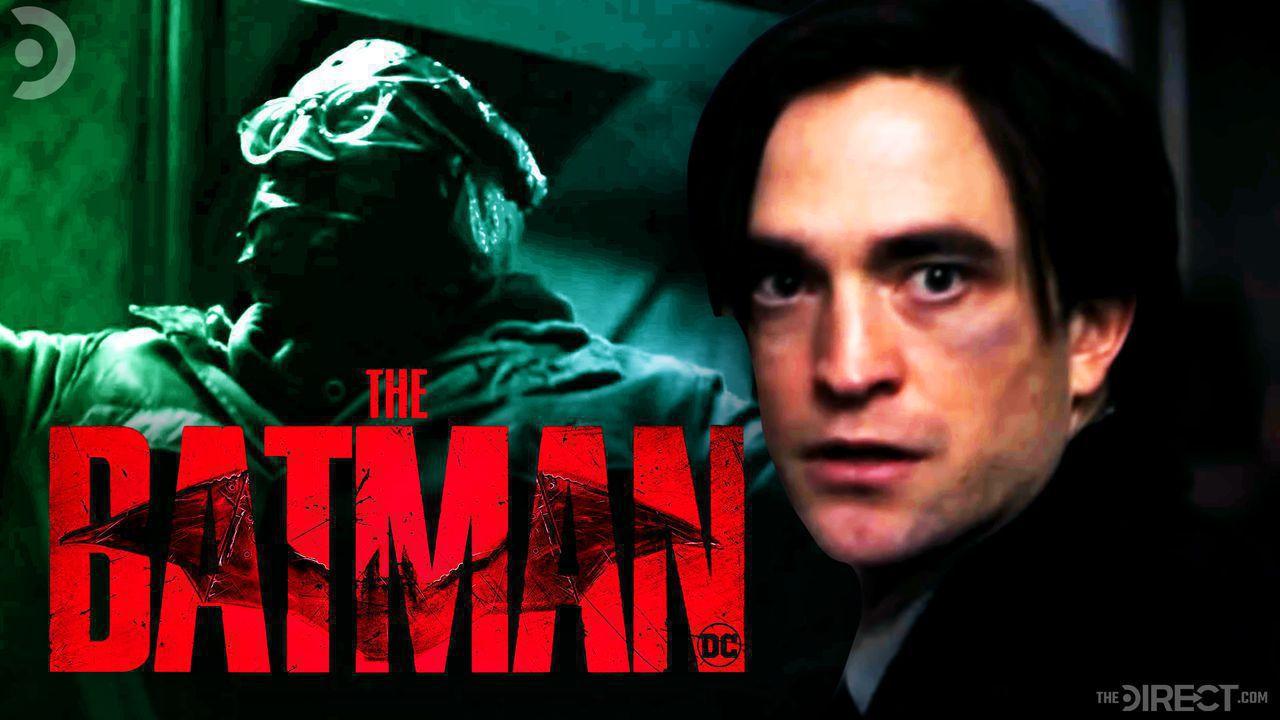 The Batman logo, The Riddler, Robert Pattinson as The Batman