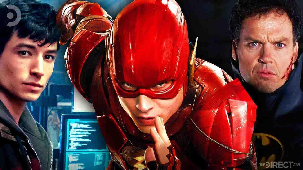 Barry Allen, The Flash, Michael Keaton as Batman