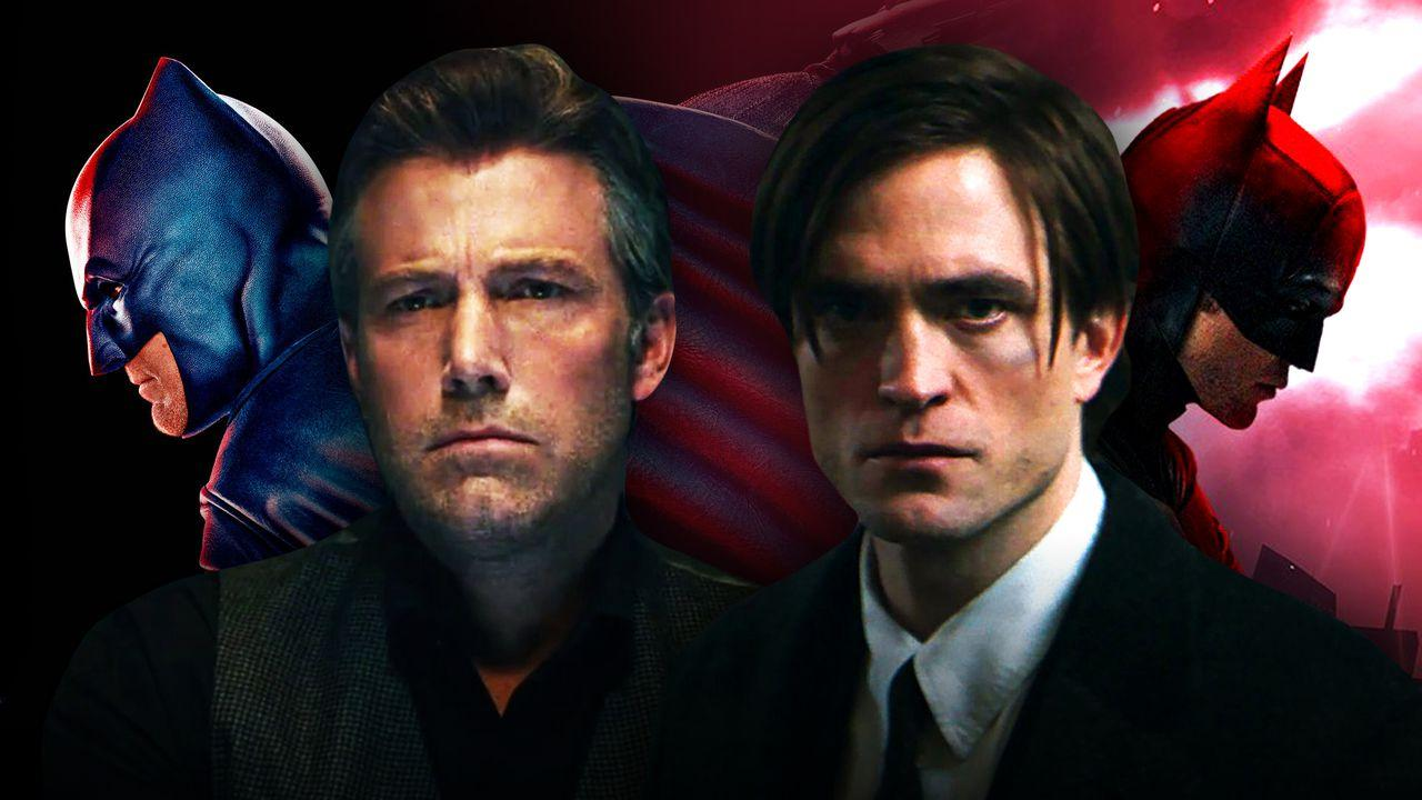 Ben Affleck and Robert Pattinson Batman