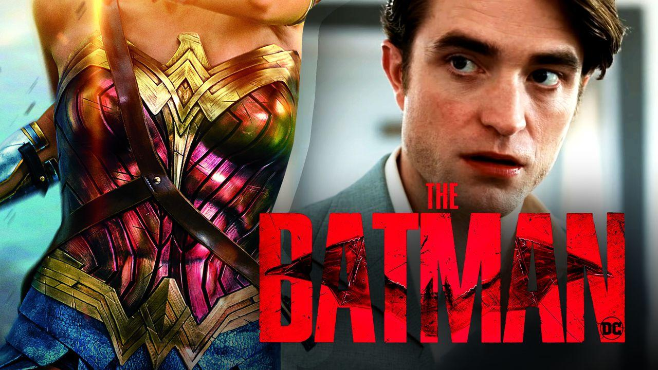 Wonder Woman suit, Batman logo, Robert Pattinson