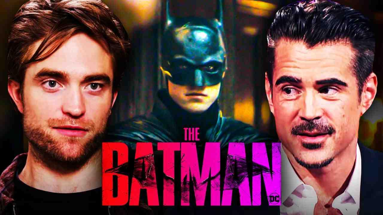 Robert Pattinson and Colin Farrell in The Batman