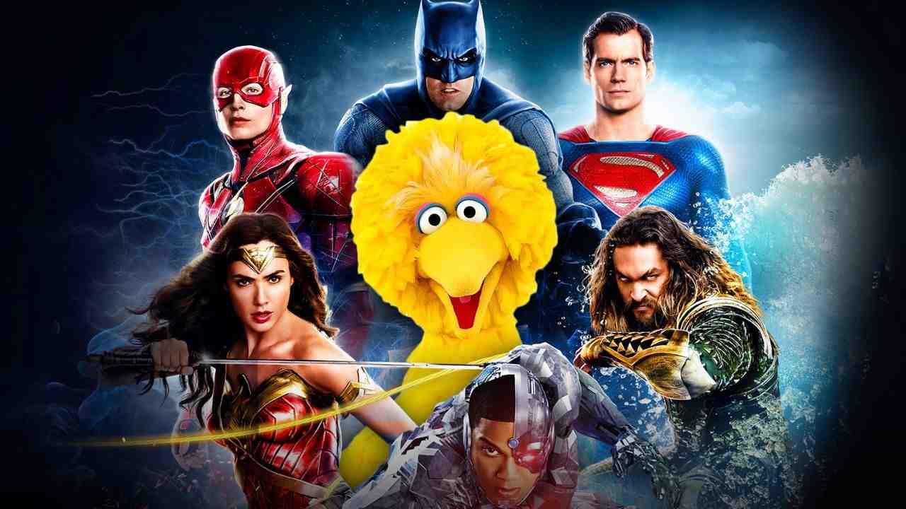 Justice League With Big Bird