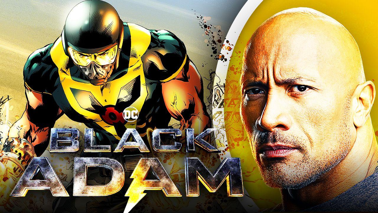 Al Pratt's Atom, Black Adam logo, Dwayne Johnson