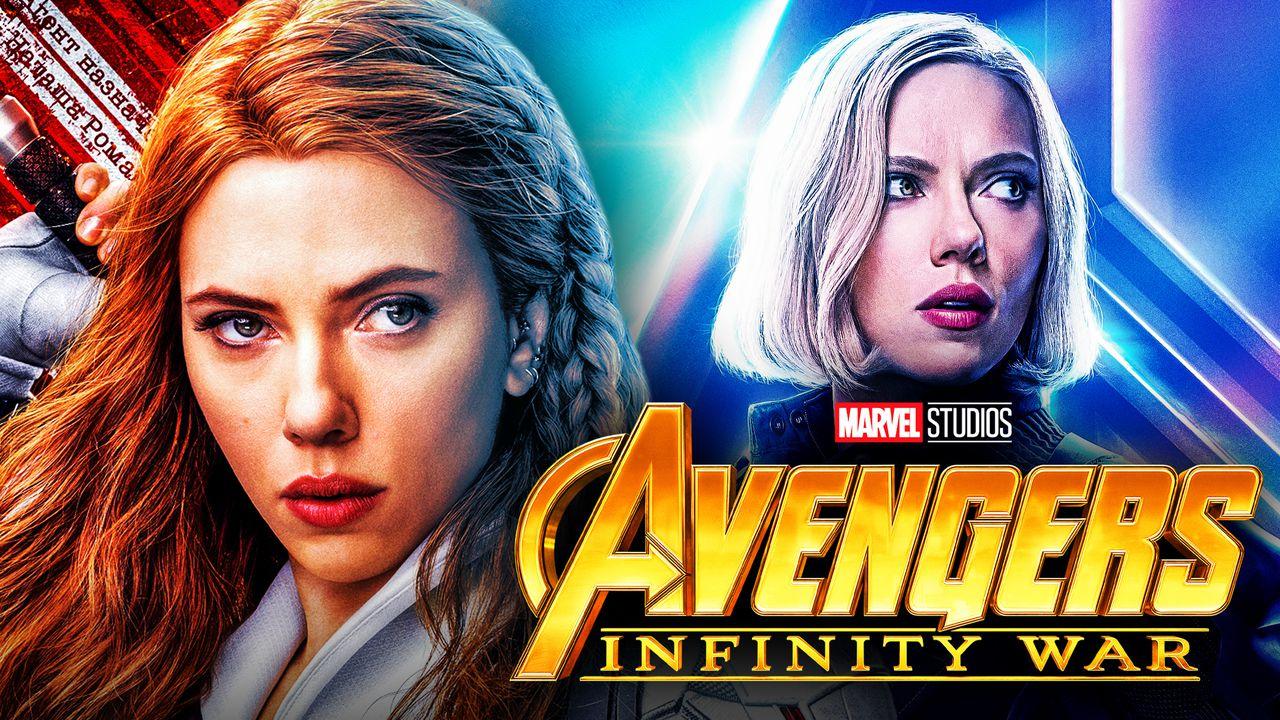 Black Widow Avengers Infinity War Blonde Hair