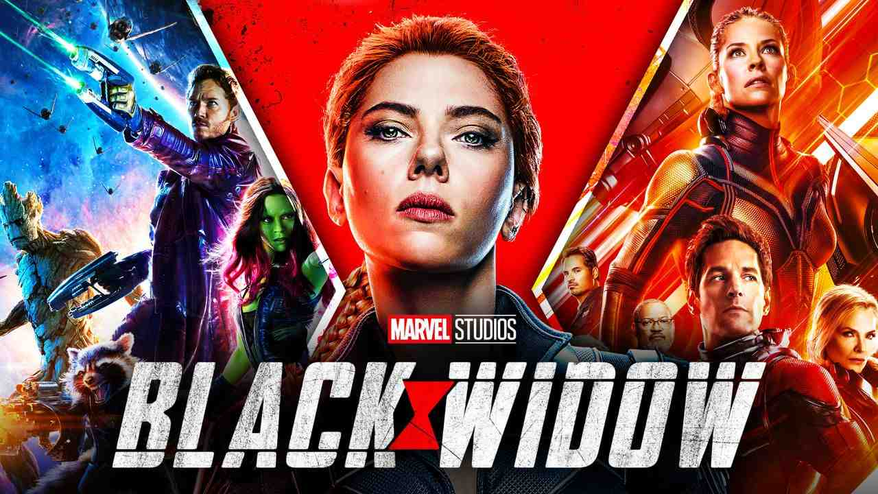 Black Widow, Ant-Man and the Wasp, Guardians of the Galaxy