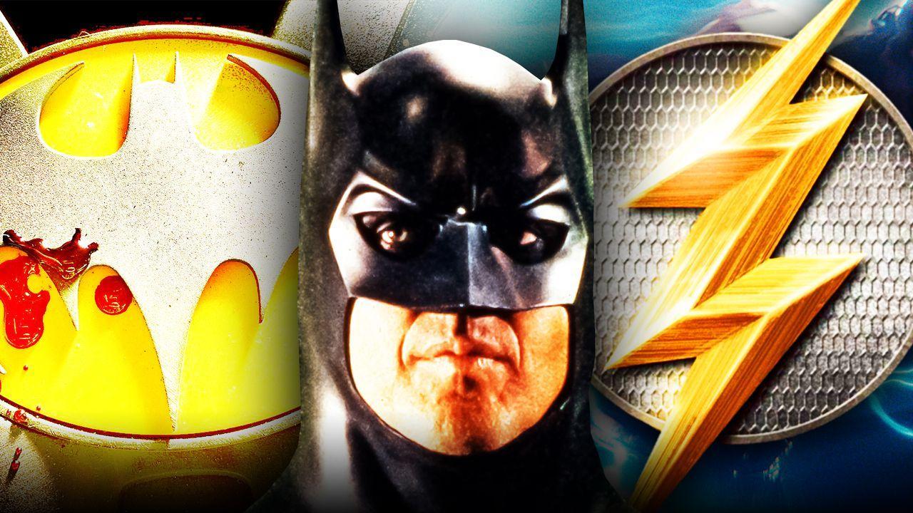 Michael Keaton Batman Flash Symbols