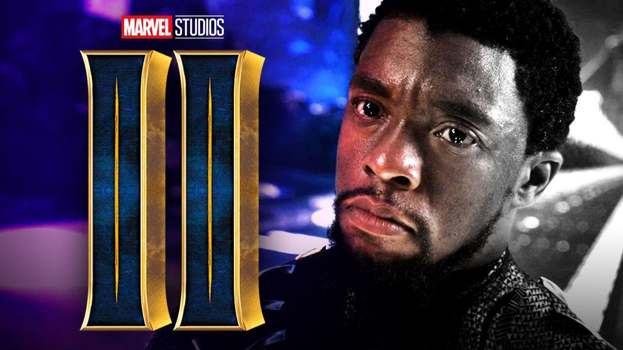 Black Panther 2 logo, Chadwick Boseman as T'Challa