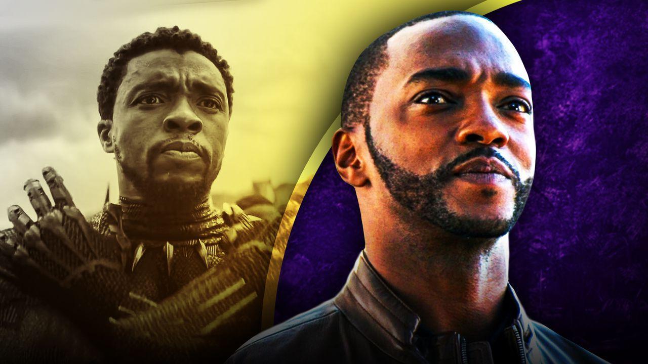 Anthony Mackie as Sam Wilson, Chadwick Boseman as T'Challa