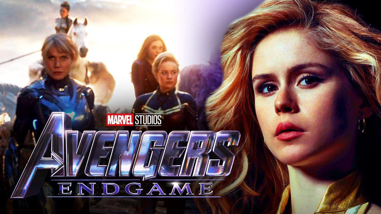 Avengers Endgame A-Force scene, logo, Starlight from The Boys