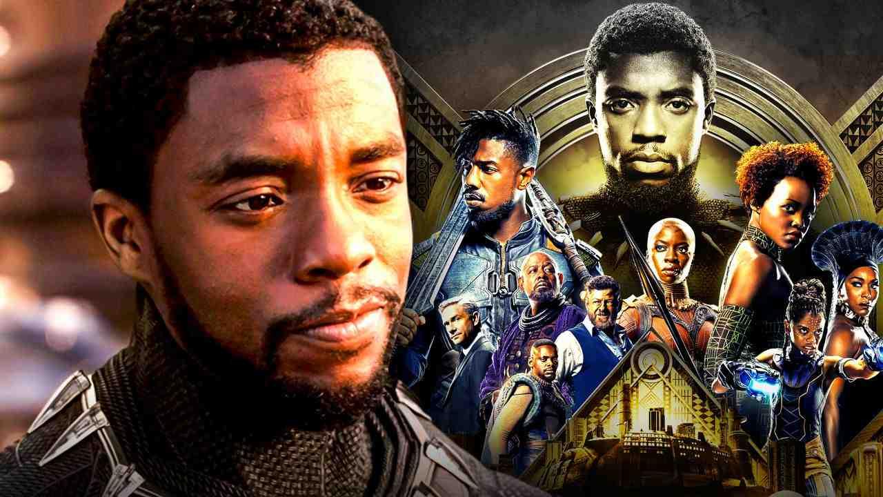 Chadwick Boseman as T'Challa, the cast of Black Panther