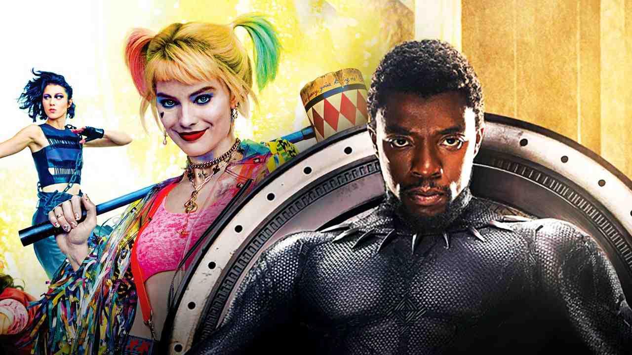 Chadwick Boseman's Black Panther alongside Margot Robbie's Harley Quinn