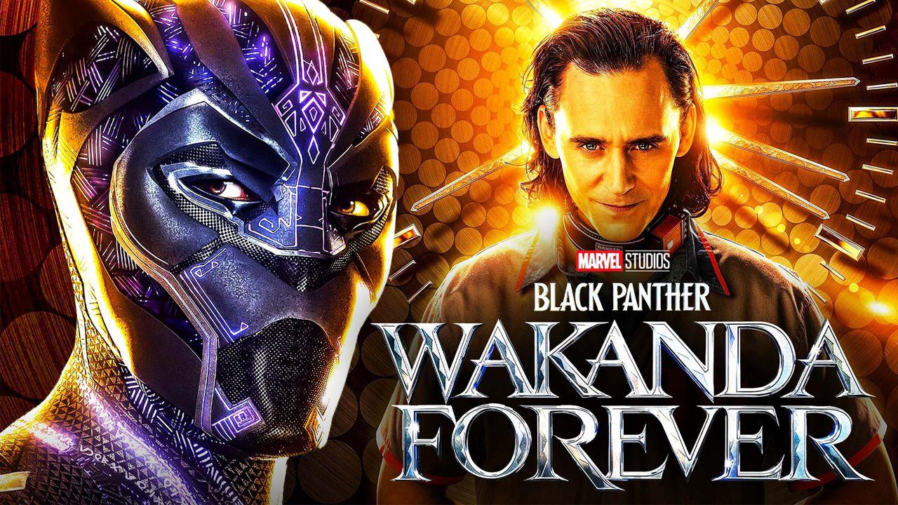 Black Panther Wakanda Forever logo Loki
