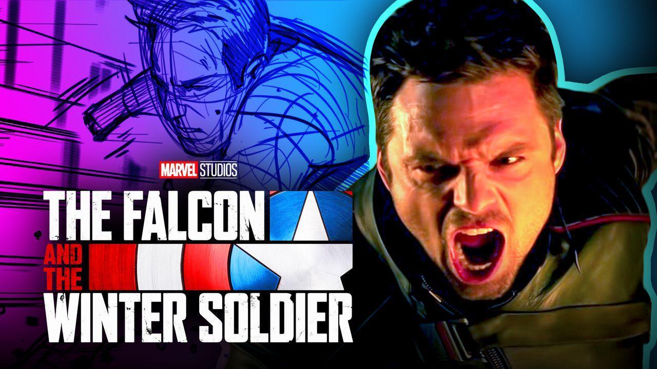 Bucky Barnes Sebastian Stan Falcon and Winter Soldier logo