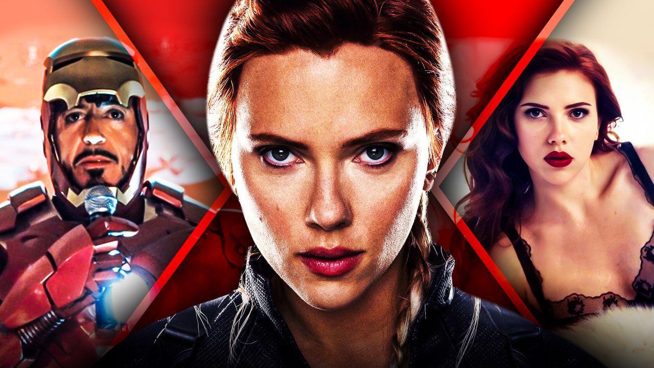 Scarlet Johansson's Black Widow and Robert Downey Jr.'s Iron Man