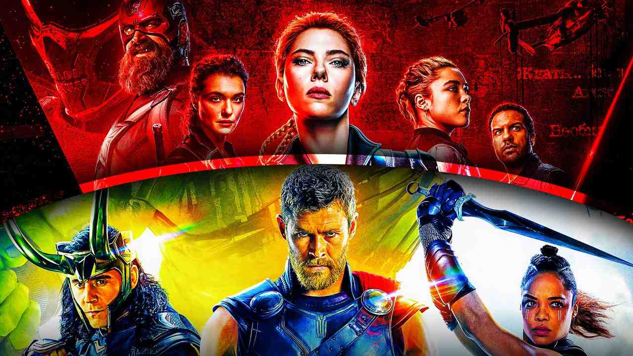 Scarlett Johansson as Natasha Romanoff, Thor: Ragnarok poster