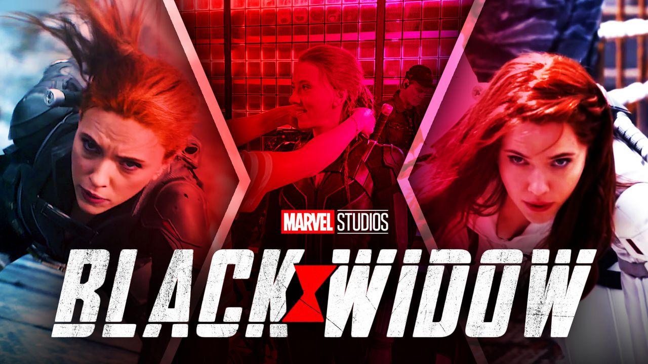 Black Widow logo, Marvel Studios, Scarlett Johansson, Natasha Romanoff