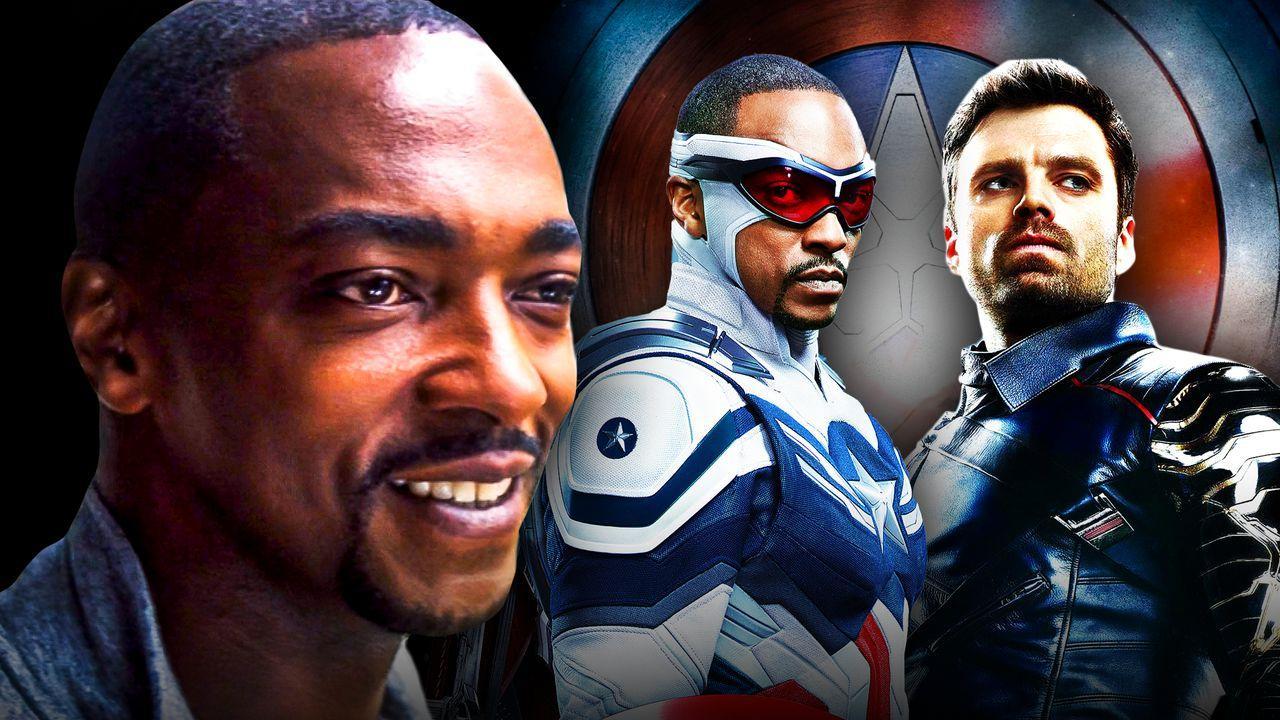 Anthony Mackie as Captain America, Sebastian Stan as Bucky Barnes