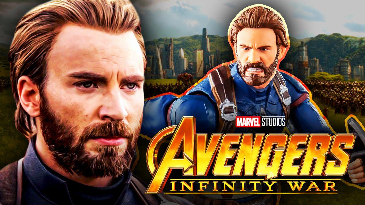 Chris Evans as Steve Rogers, Captain America Marvel Legends figure