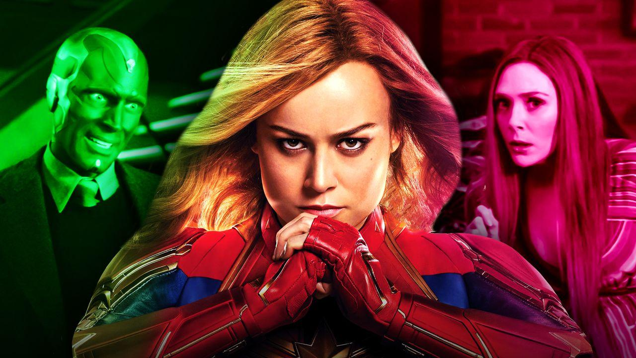 Vision, Captain Marvel, Wanda