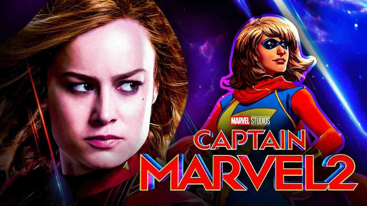 Brie Larson as Captain Marvel, Captain Marvel 2 logo, Ms. Marvel