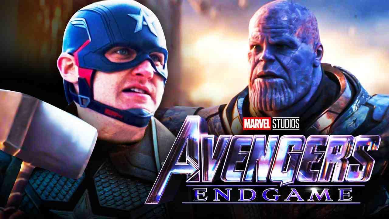 Captain America Mjolnir Thanos Avengers Endgame logo