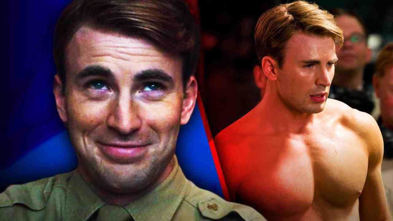 Steve Rogers, Steve Rogers no shirt in Captain America