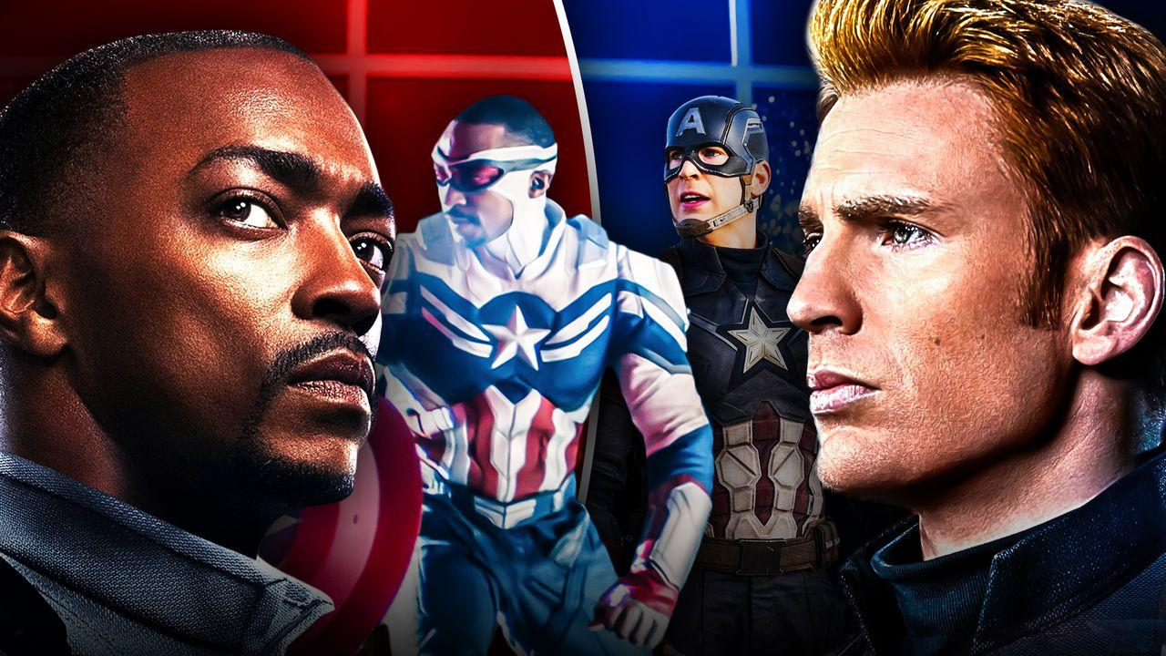 Anthony Mackie Chris Evans Captain America