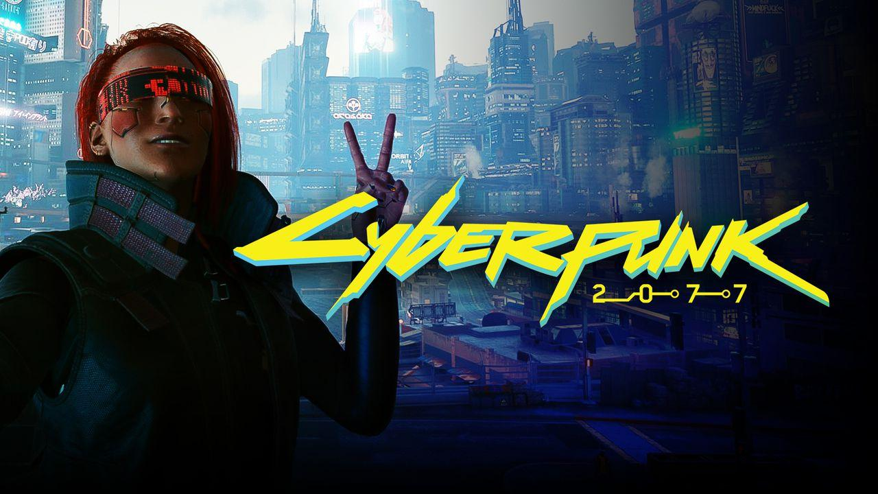 A Cyberpunk character poses with a peace sign