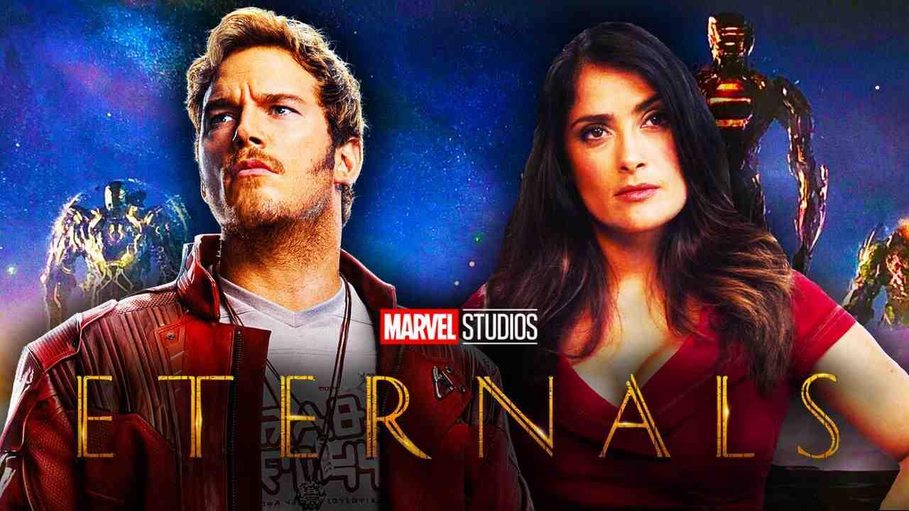 Star-Lord, Salma Hayek, Eternals