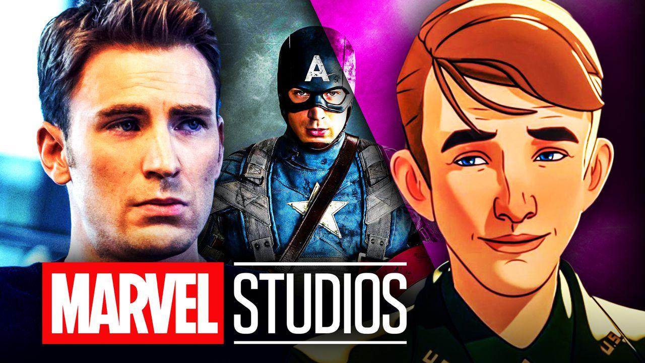Chris Evans Captain America Animated Steve Rogers Marvel logo