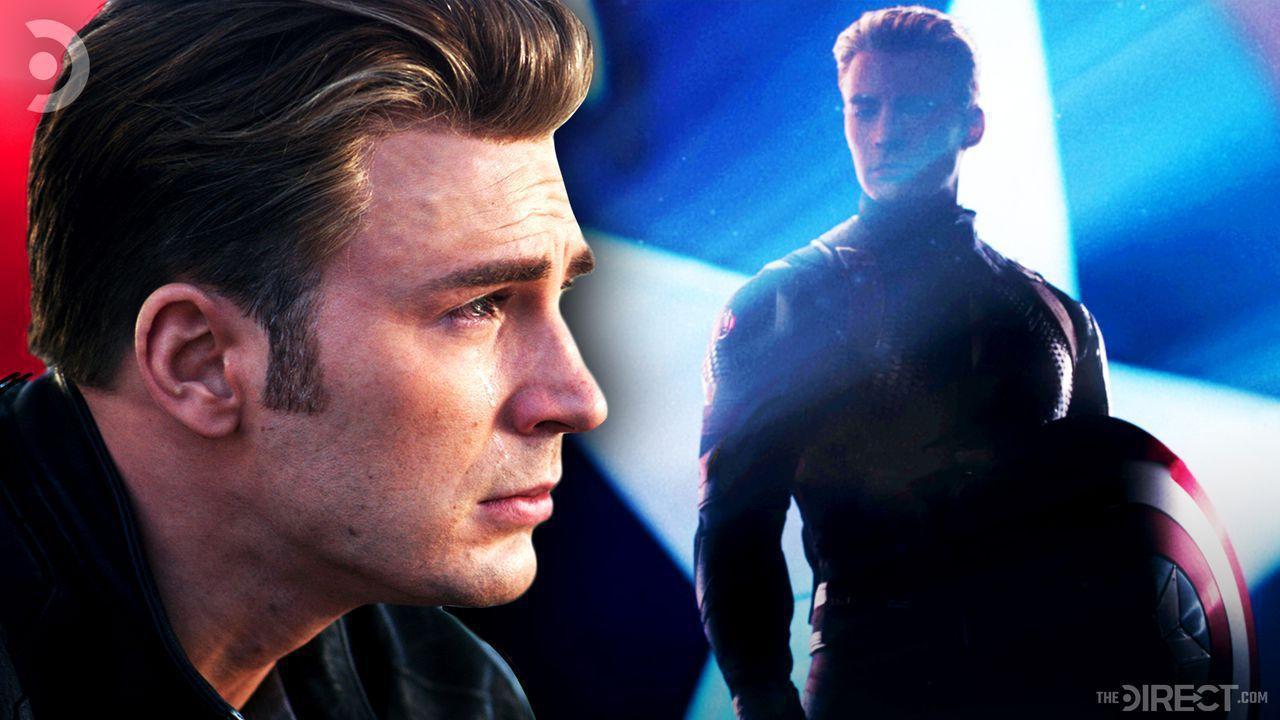 Steve Rogers and Captain America in suit and with shield